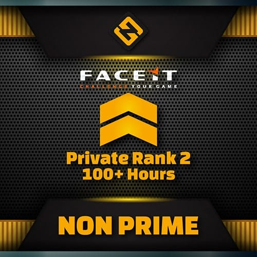 csgo private rank 2 faceit enabled account