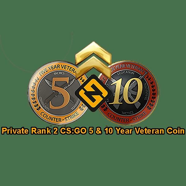 PR2 CSGO 5 & 10 Year Veteran Coin Accounts
